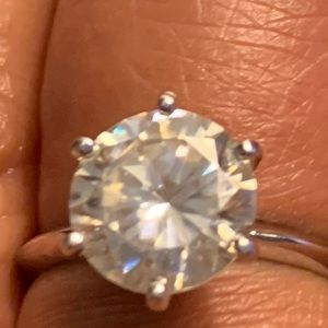 Jewelry | 325 Ct Real Diamond And Moissanite Ring 14k Wg